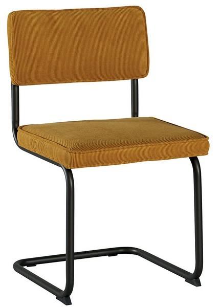 chaise fer et tissu jaune brampton casita
