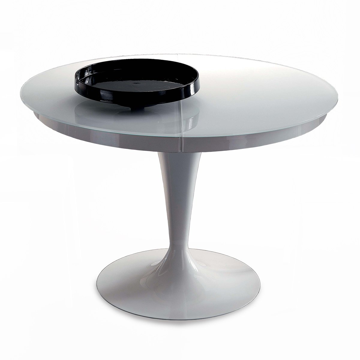 table ronde extensible eclipse verre