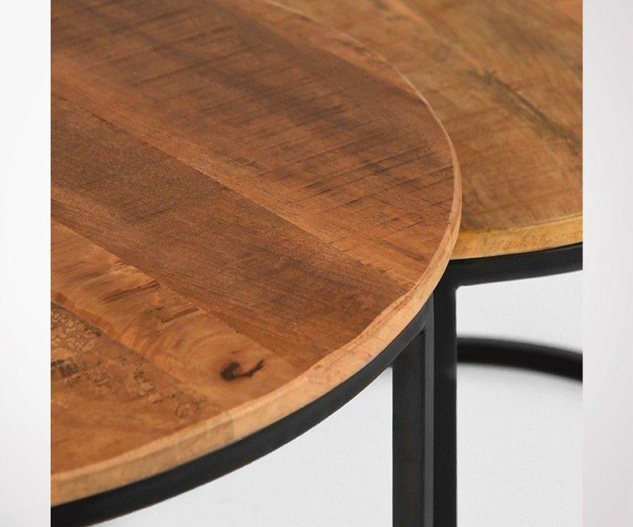 tables gigognes style industriel metal et bois klik label 51