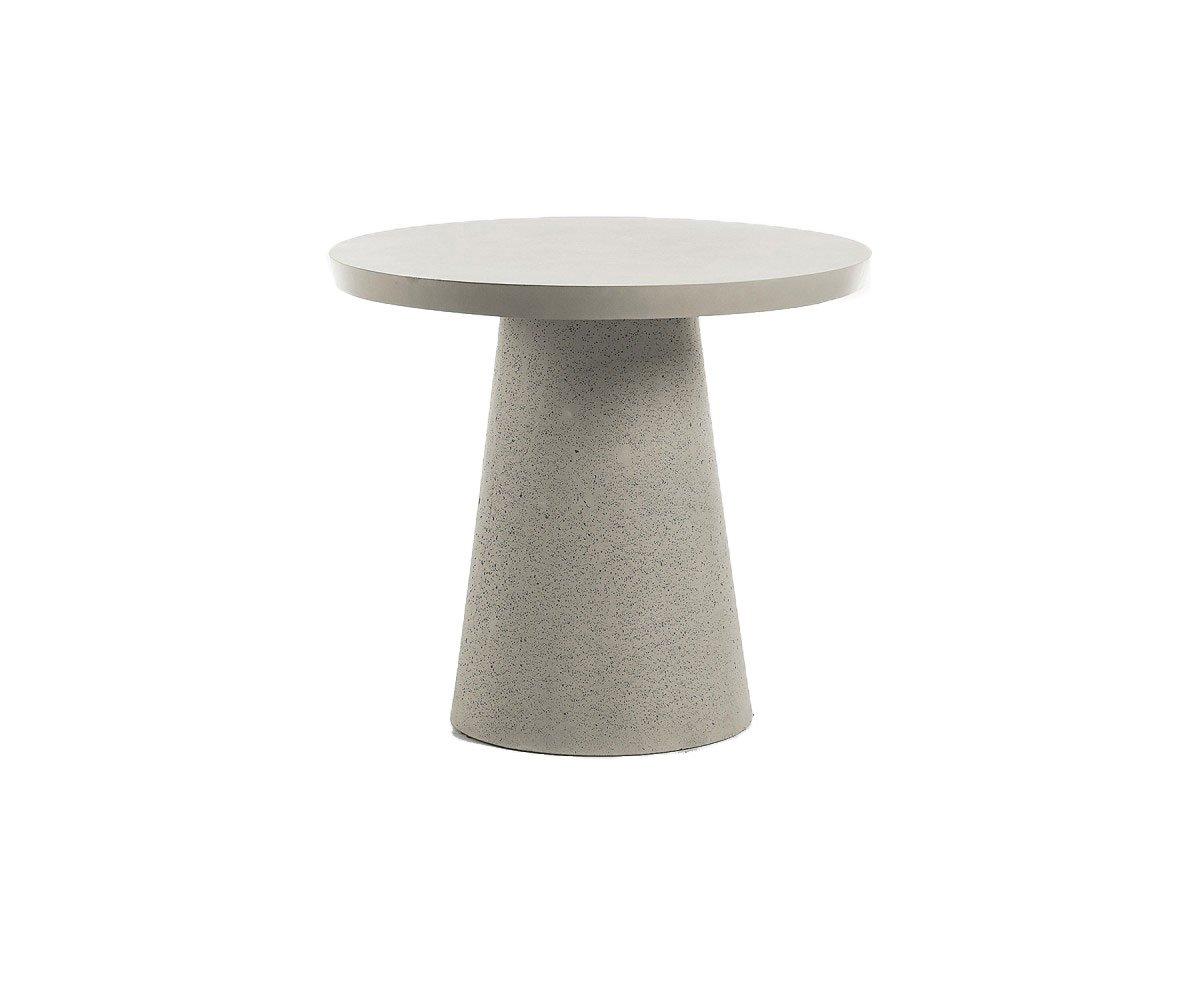 table a manger ronde exterieur ciment 90cm rizeo