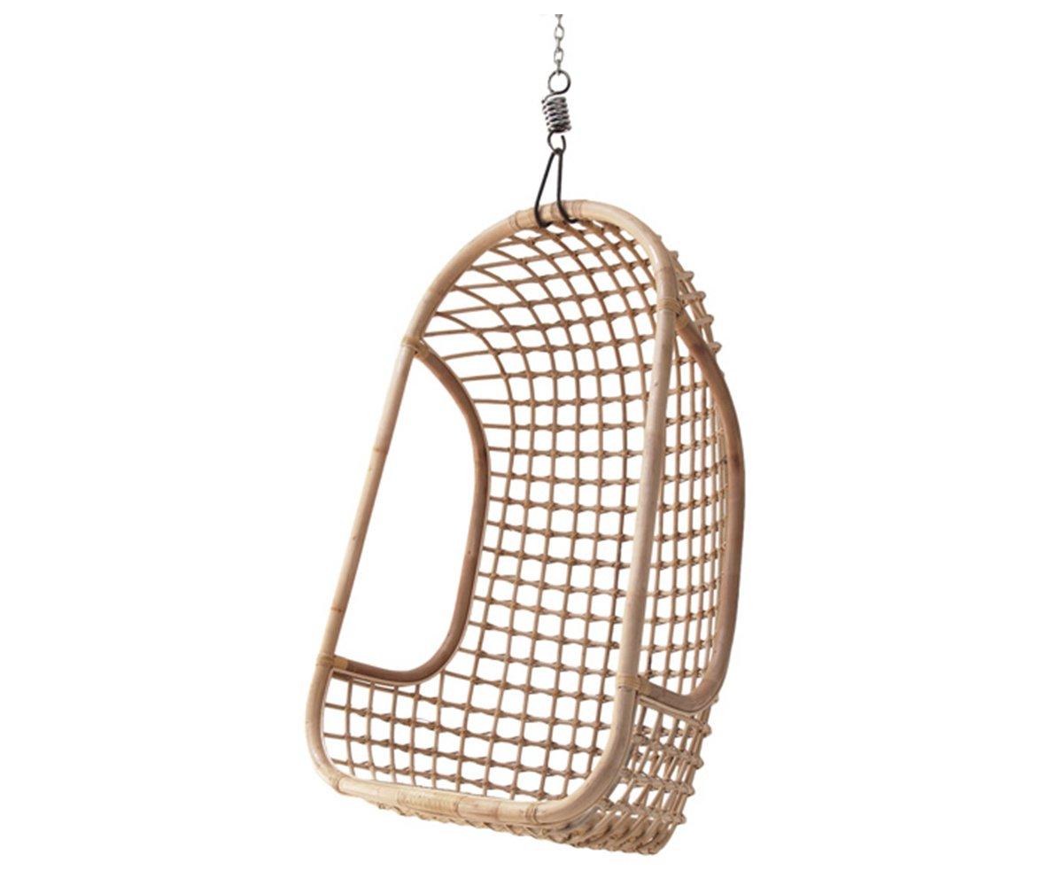 fauteuil suspendu rotin naturel julio avec fixations