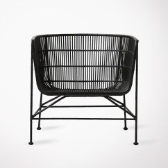 Black Rattan Chair Shower Disabled Large Seating Lounge House Doctor Armchair Bomoko X Fauteuil Style Ethnique En Rotin Noir