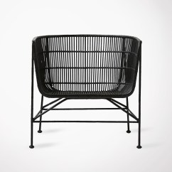 Large Wicker Chair Samsonite Chairs Seating Black Rattan Lounge House Doctor
