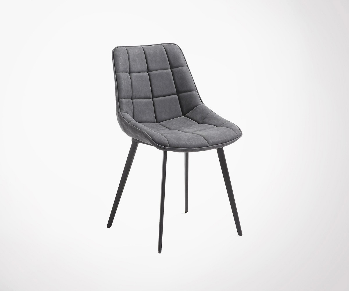chaise metal assise rembourree capitonnee agda