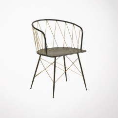Metal Armchair Best Outdoor Lounge Chair Art Deco Style Dining By Athezza Hanjel Brass And Black Fauteuil Metallique Losange Loading Zoom