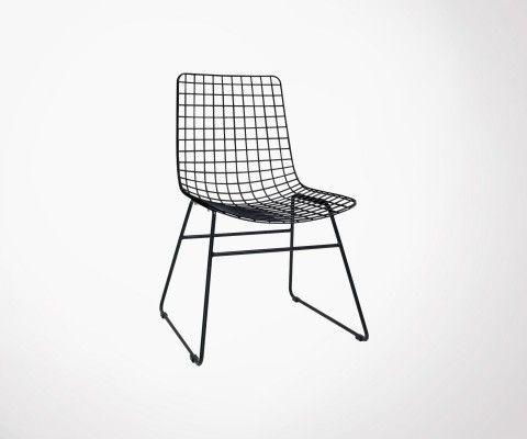 chaise metal acier ou fer design