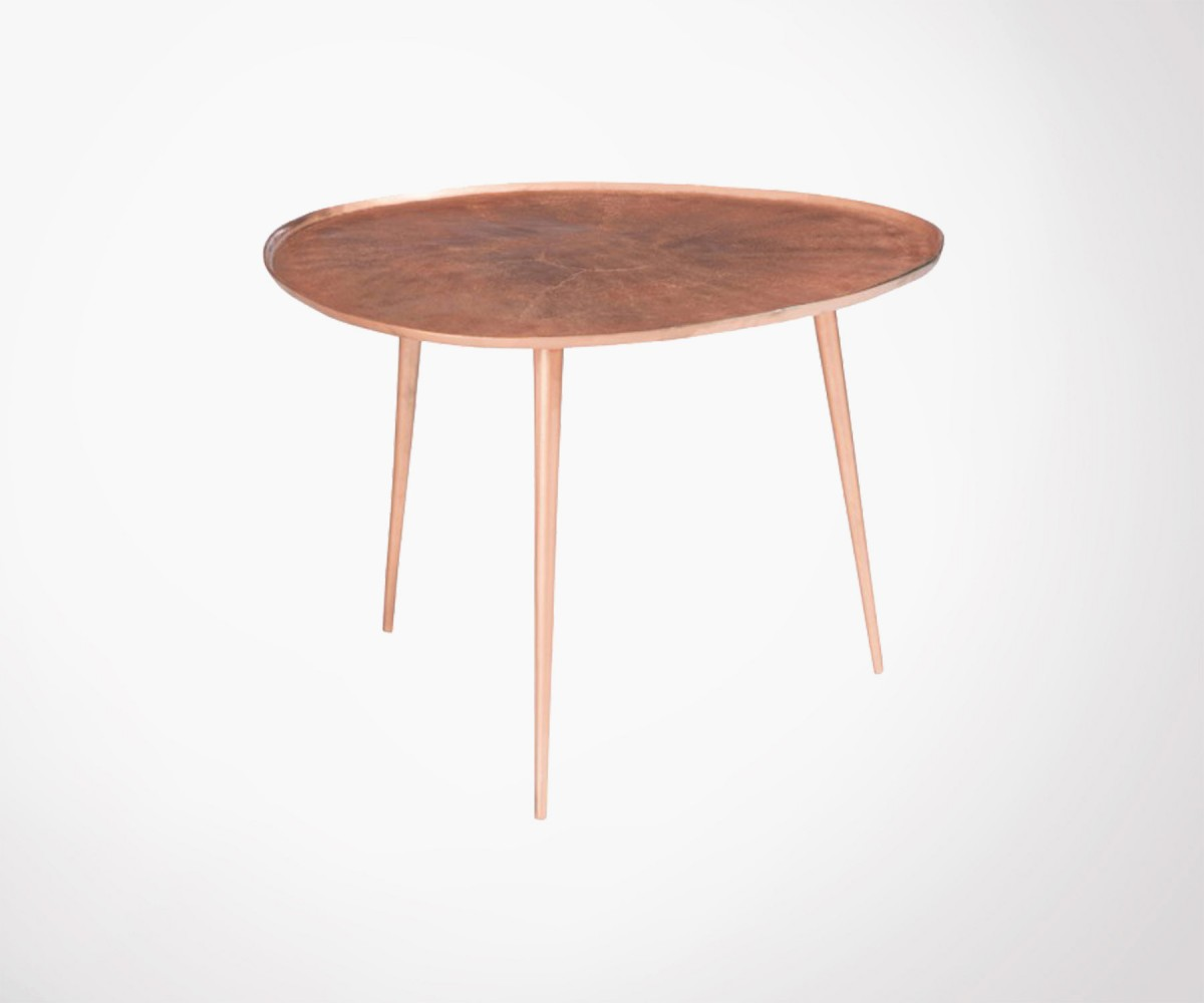 rose gold metal 54cm round coffee table pinze loading zoom