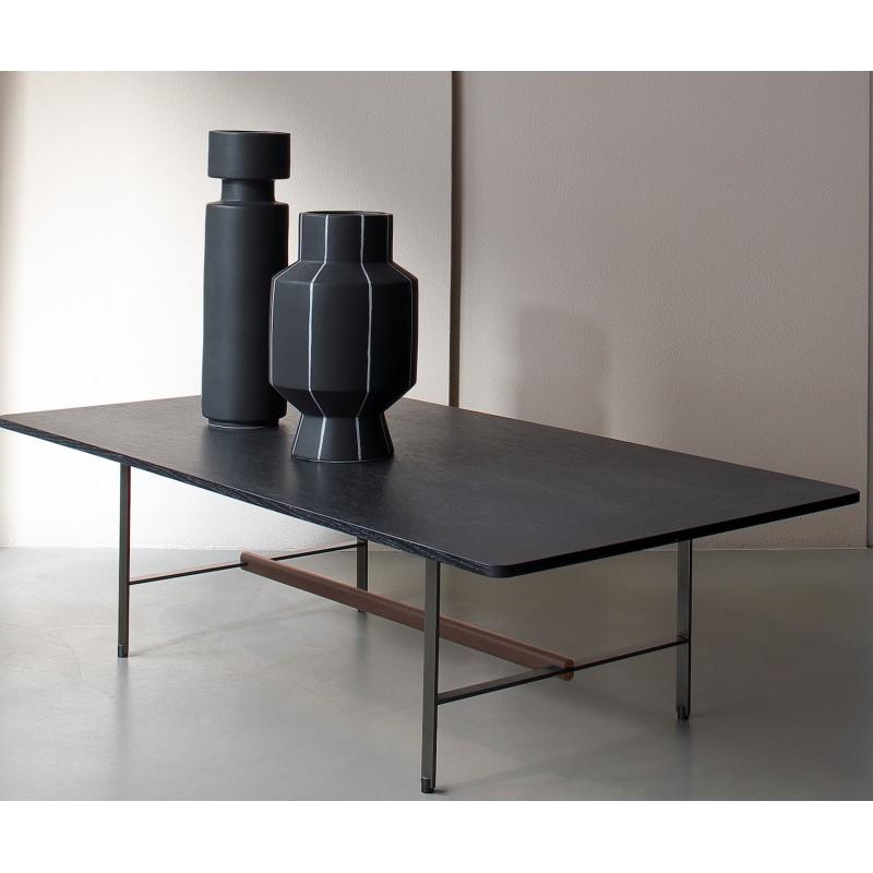 table basse sisters en metal et bronze patricia urquiola coedition