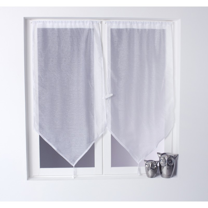 voilage oria vitrage 60 x 120 cm blanc