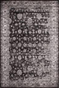 tapis fleur effet ancien