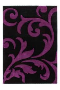 tapis fleur violet
