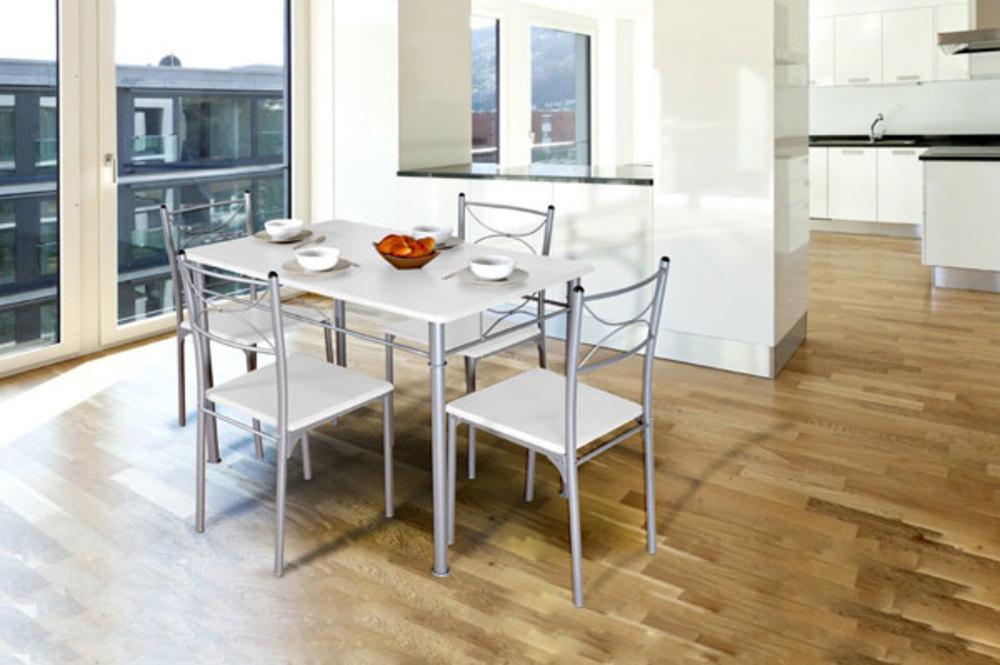 tables de cuisine tuti blanc l 0 meublespro. Black Bedroom Furniture Sets. Home Design Ideas