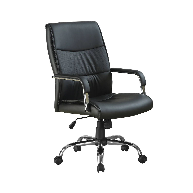 chaise de bureau simili cuir noir