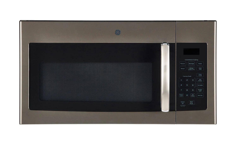 ge 1 6 cu ft microwave range hood slate 30 1000 w 300 pi3 min jvm1635sljc