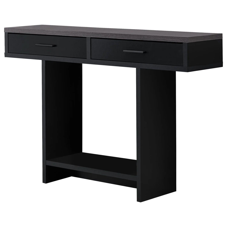 table d appoint 48 l noir dessus gris avec tiroirs