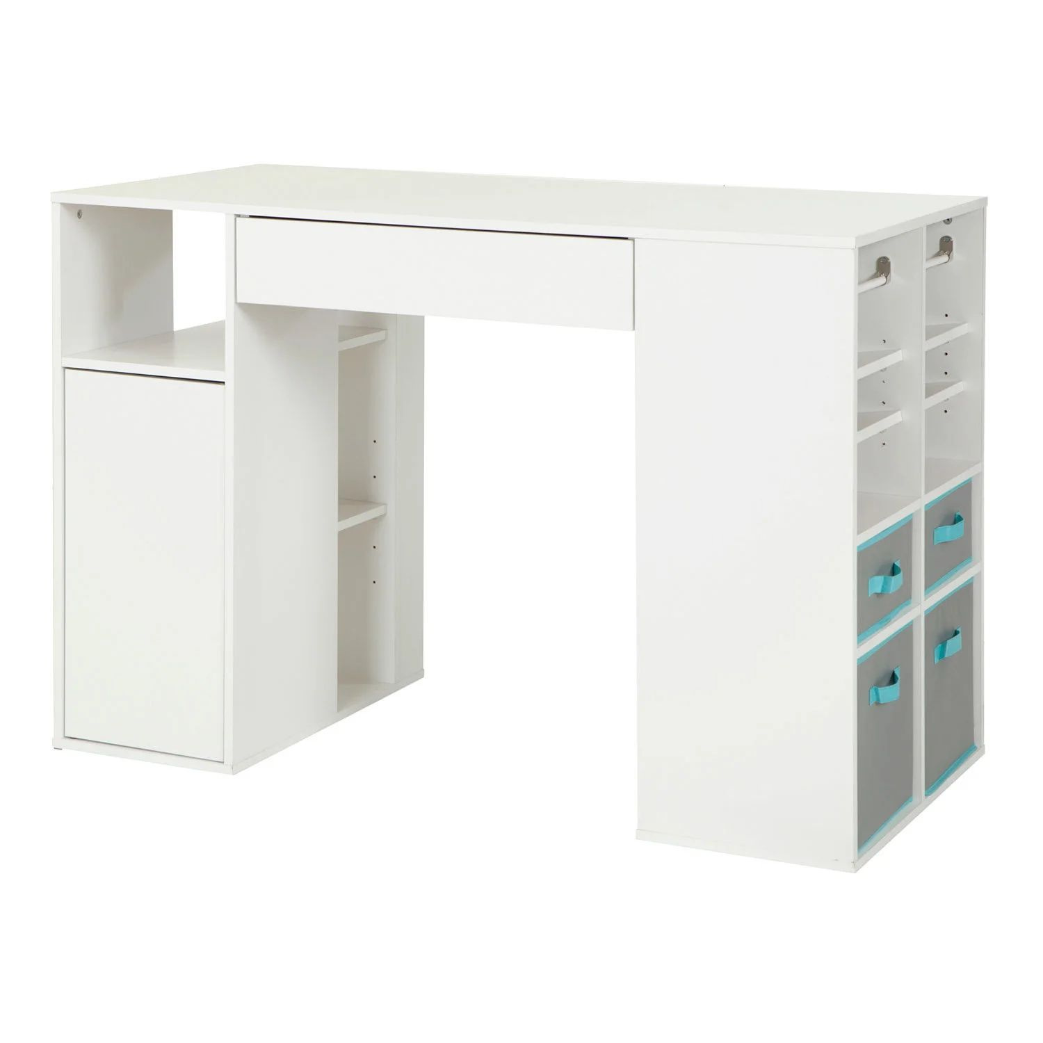Counter Height Craft Table With Storage Rd Furniture