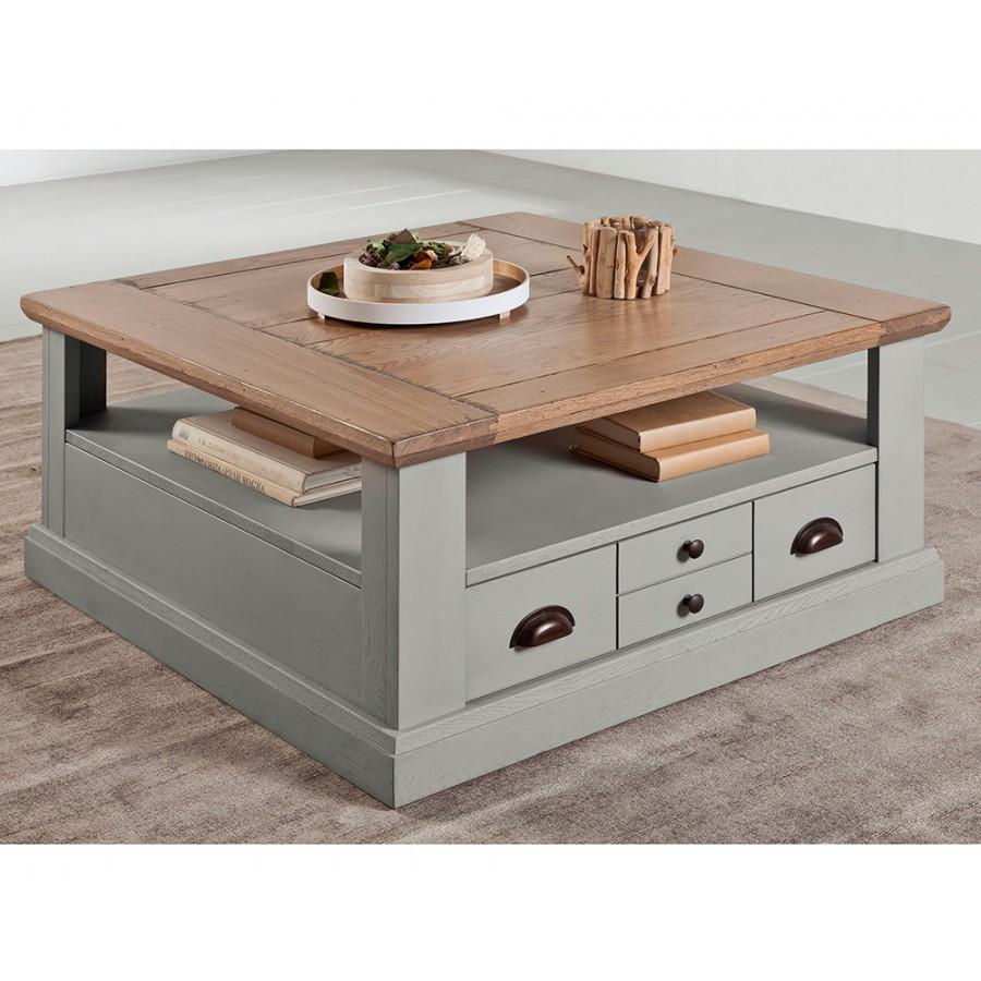 table basse carree romance meubles rigaud