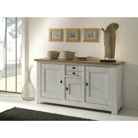 meubles bas whitney 3 portes en chene massif