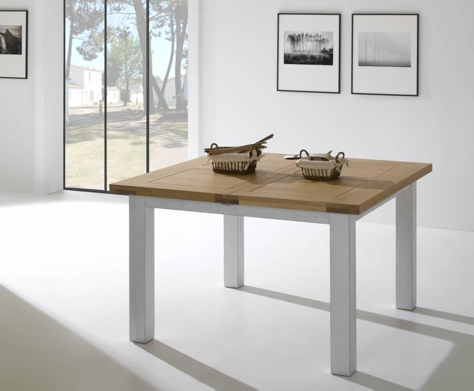 table carree en chene massif 125