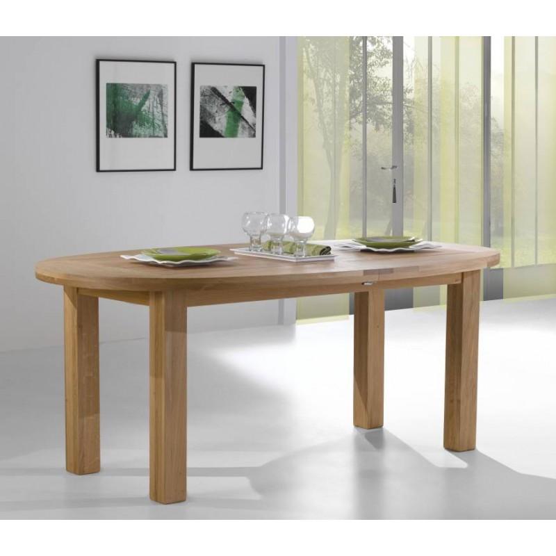 table ovale en chene massif 190 x 110