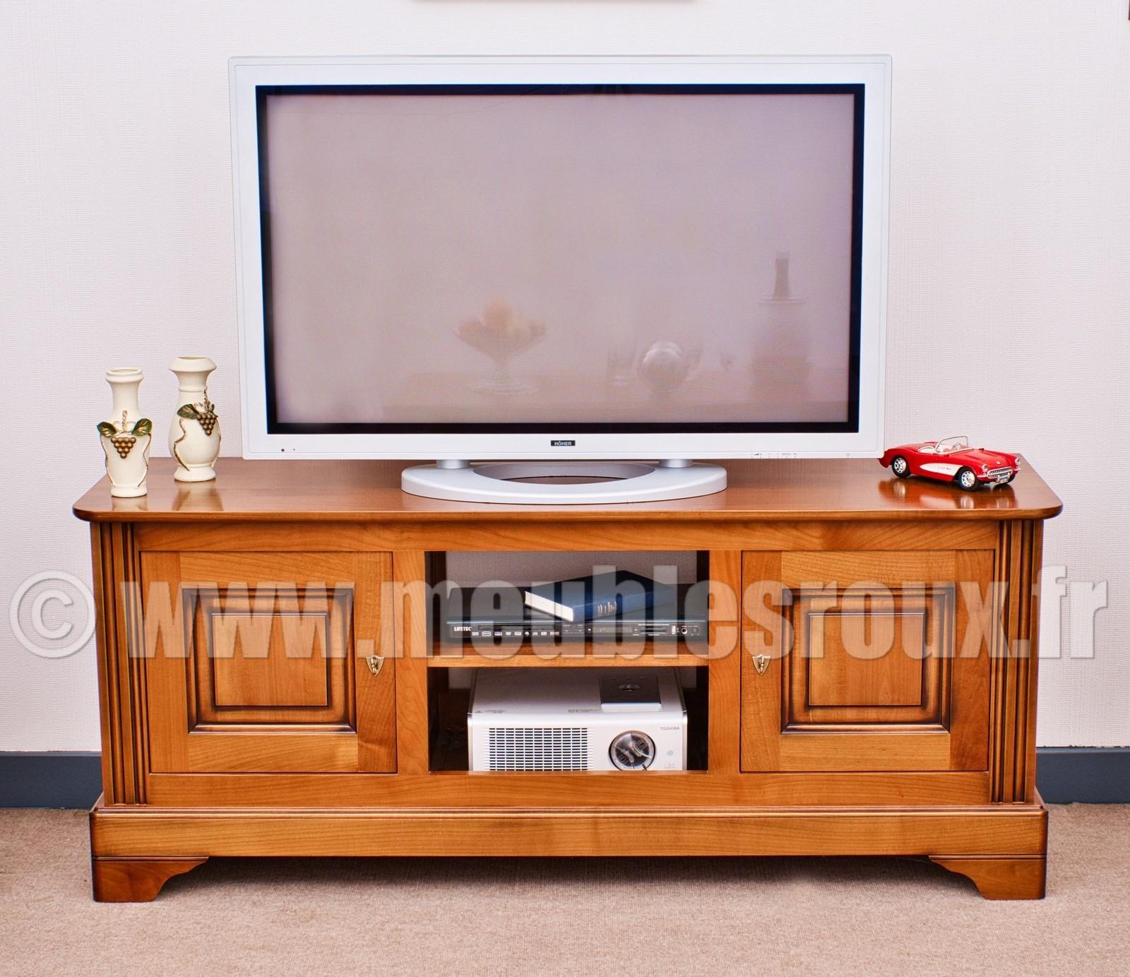 meuble tv louis philippe merisier