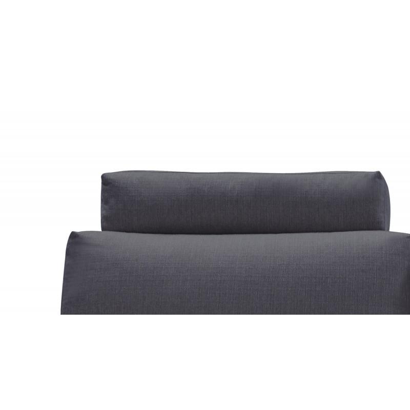 tetiere appuie tete tissu gris anthracite pour canape d angle alix