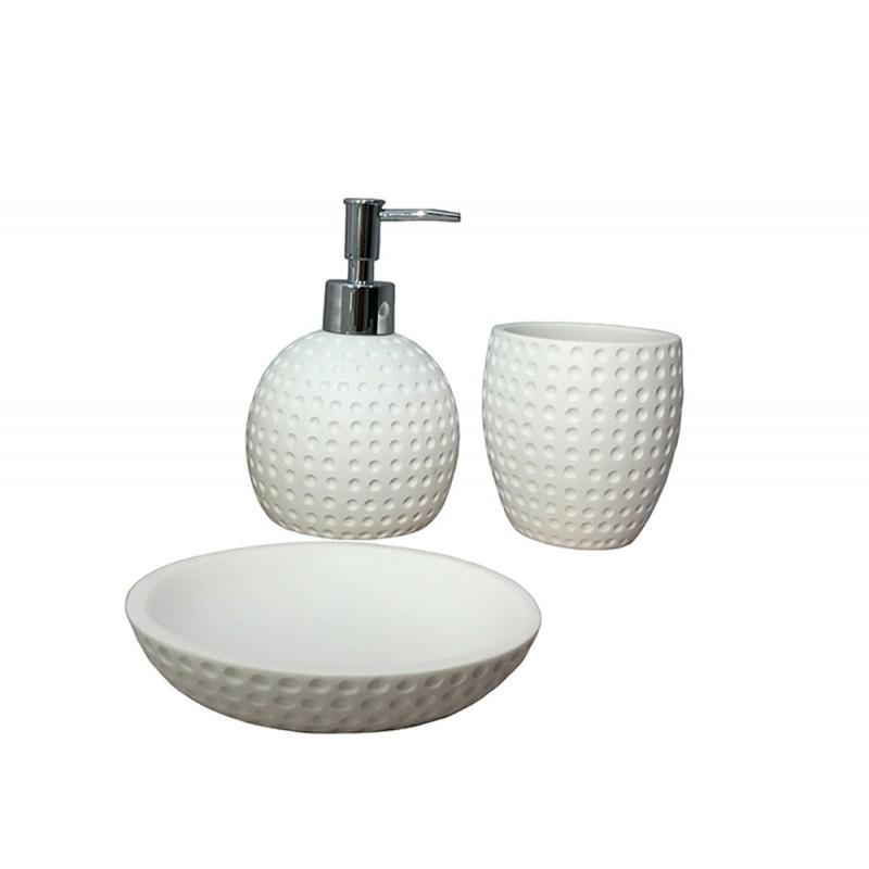 set 3 accessoires salle de bain julia