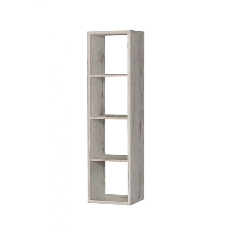 etagere colonne 4 casiers decor chene grise classico