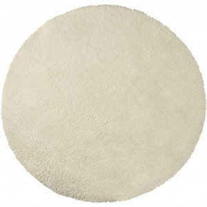 tapis rond 120 cm beige nuage