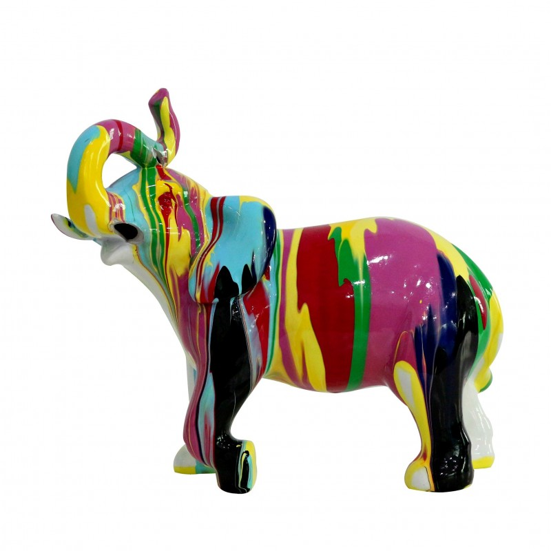 Statue Lphant Dcoration Multicolore Style Design Moderne