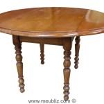 Table De Salle A Manger Ronde Louis Philippe A Volets Meuble De Style
