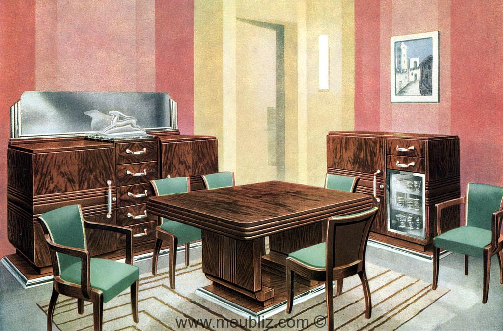 salle a manger living room art deco
