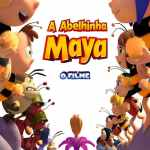 "Poster for the movie ""A Abelhinha Maya - O Filme"""