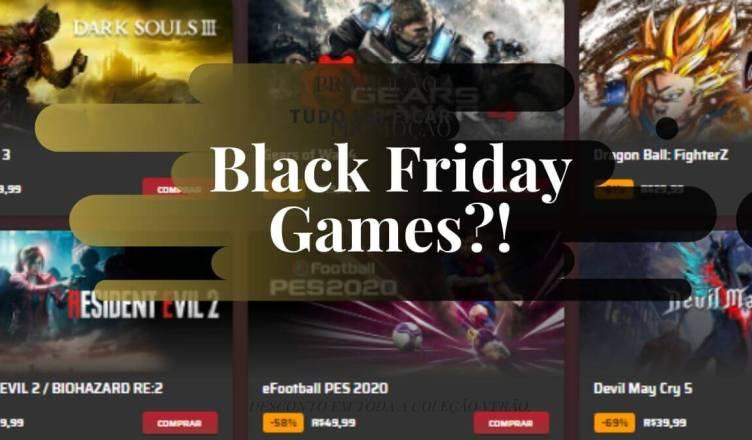 Confira os games que estão em promoção na Black Friday