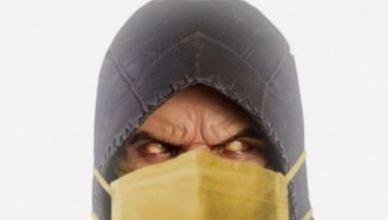 Ed Boon publica imagem inusitada de Scorpion com máscara hospitalar