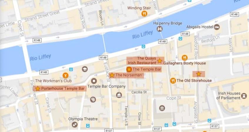Mapa Dublin