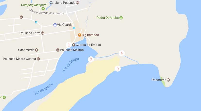 Mapa Guarda do Embaú