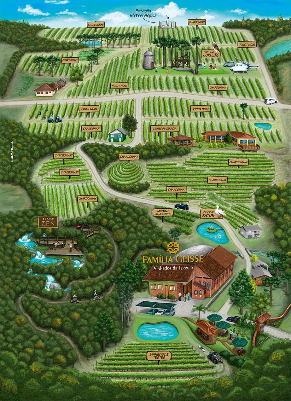 Mapa Vale dos Vinhedos