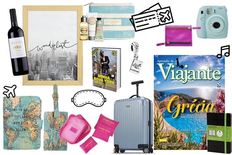 Capa Sugestões de presentes pra quem ama viajar