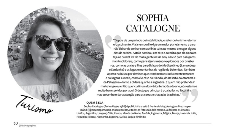 Sophia Catalogne | Revista Like Magazine