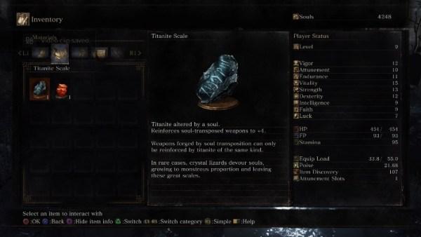 Dark Souls 3 Inventário