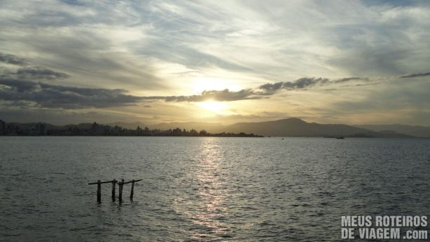 Por do Sol no Trapiche da Av. Beira-Mar Norte - Floripa