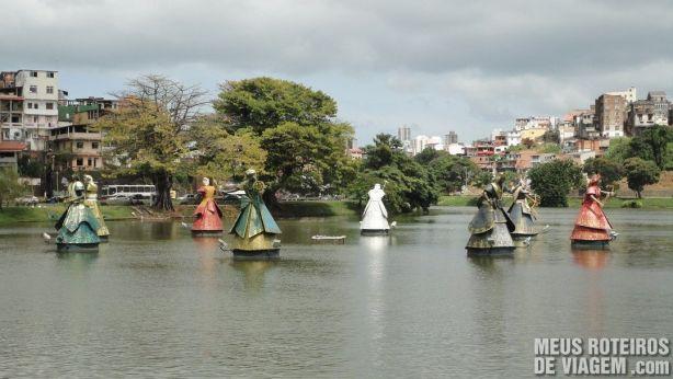 Orixás no Dique do Tororó - Salvador, Bahia