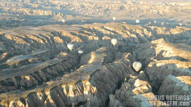 Balões nos vales da Capadócia - Turquia