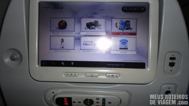 Sistema de entretenimento a bordo da Turkish Airlines