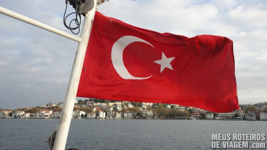 Bandeira da Turquia em Istambul
