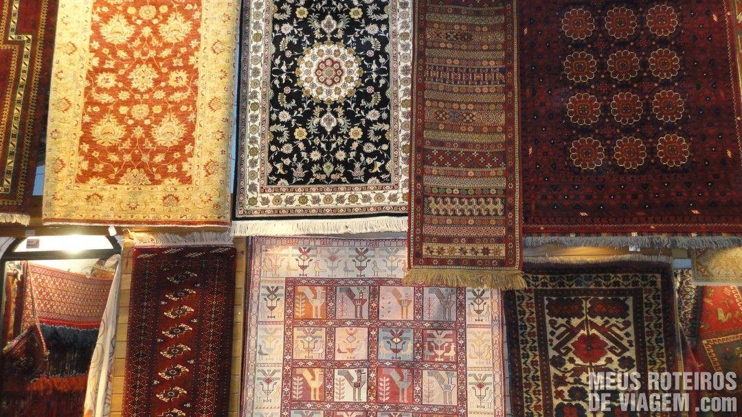 Tapetes no Grande Bazar - Istambul, Turquia