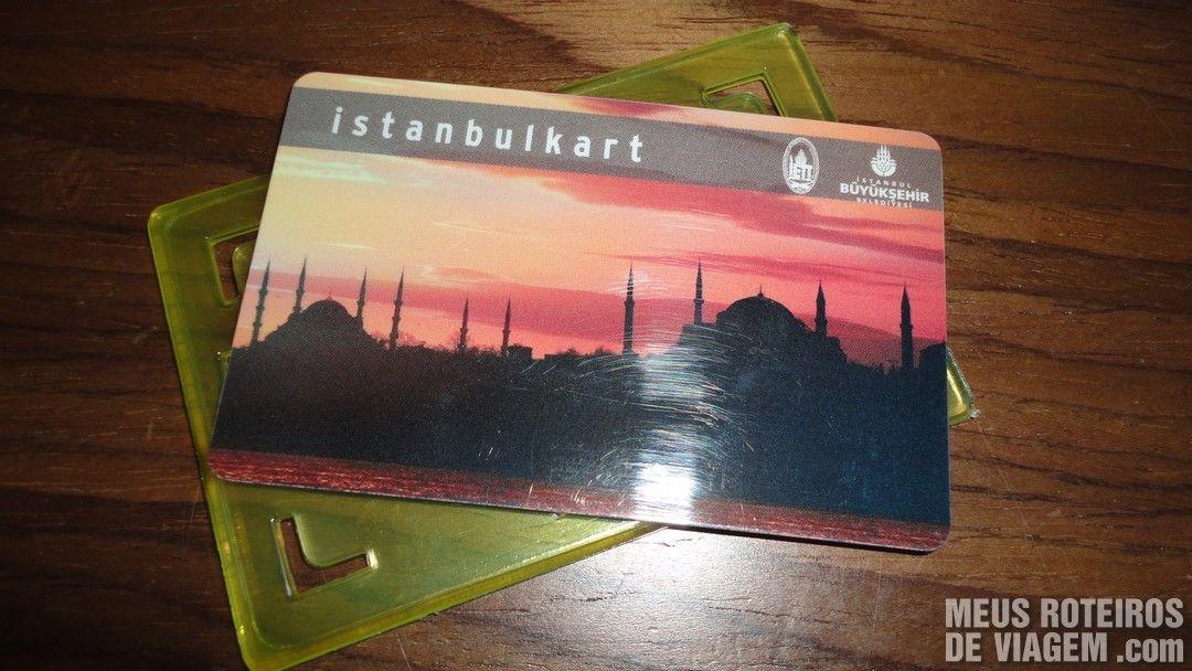 Cartão Istanbulkart - Istambul, Turquia