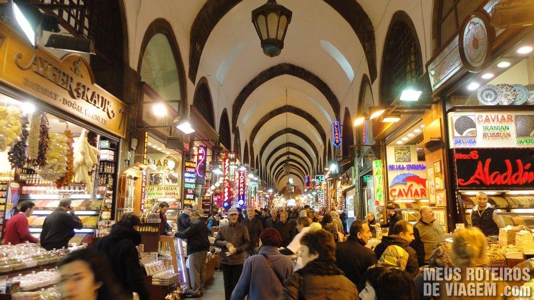 Istambul O Grande Bazar e o Bazar de Especiarias  Meus