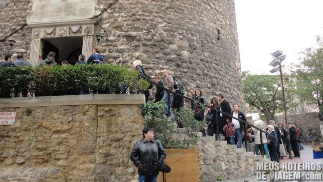 Fila para visitar a torre